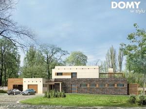 dom nowoczesny parterowy